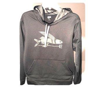 Patagonia black hoodie unisex size men's S fish